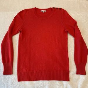 Gap Luxe Sweater Bright Coral